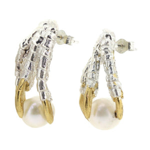 Pearl of London Earrings with Gold Nails