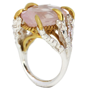 Rose Quartz Deborah Ring