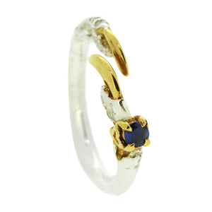 Single Claw with a Sapphire Ring