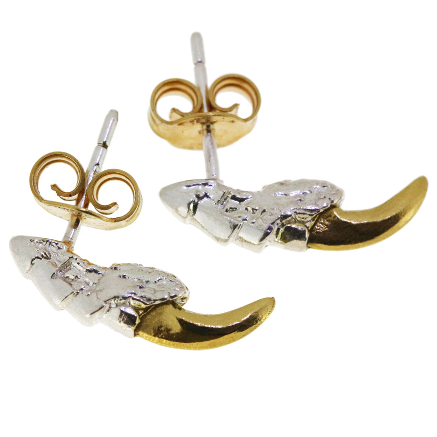 Pigeon Claw Studs with Gold Nails