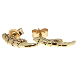 Pigeon Claw Studs - Gold