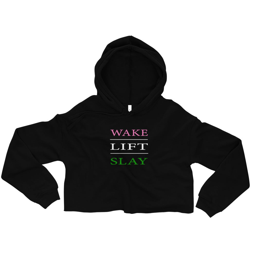 Wake - Lift - Slay Crop Top Hoodie - Best Fit Apparel