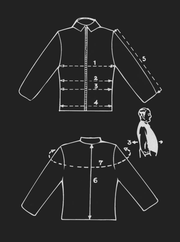 Meaurement Guide for Custom Jacket Sizes