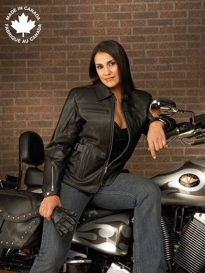 #23347 Ladies Leather Touring Motorcycle Jacket 6