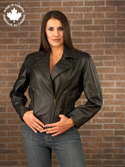 #23393 Ladies Leather Touring Jacket W/braid Detail 6