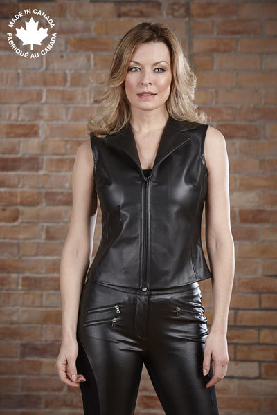 #23420 Ladies Leather Vest 6 Vests