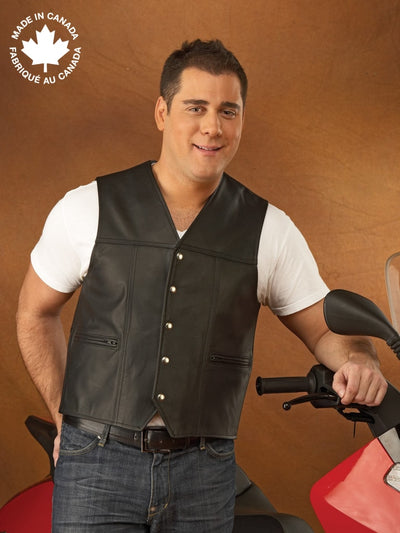 #3167 Mens Leather Vest 38 Vests