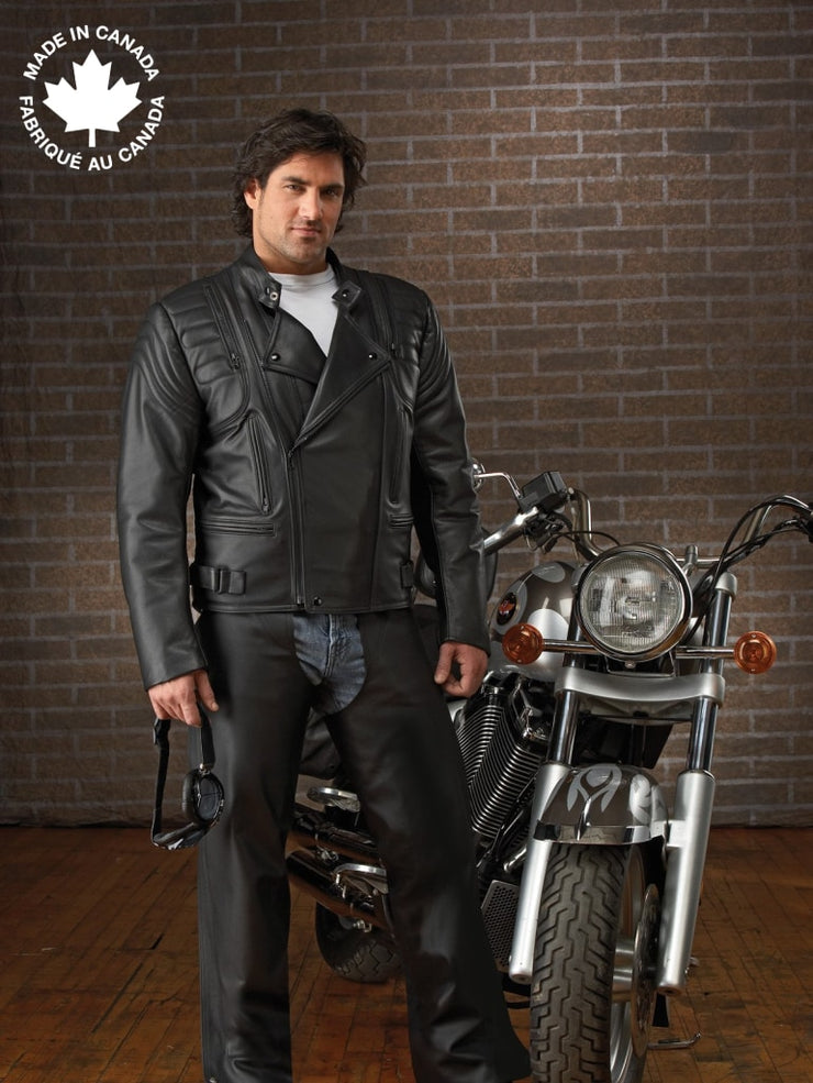 #3340 Mens Aviator Leather Motorcycle Jacket 38