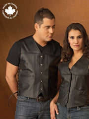 #3372 Mens Leather Vest W/lace Ties 38 Vests