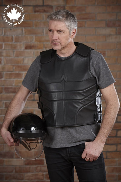 #3412 Mens Leather Commando Vest 36 Vests
