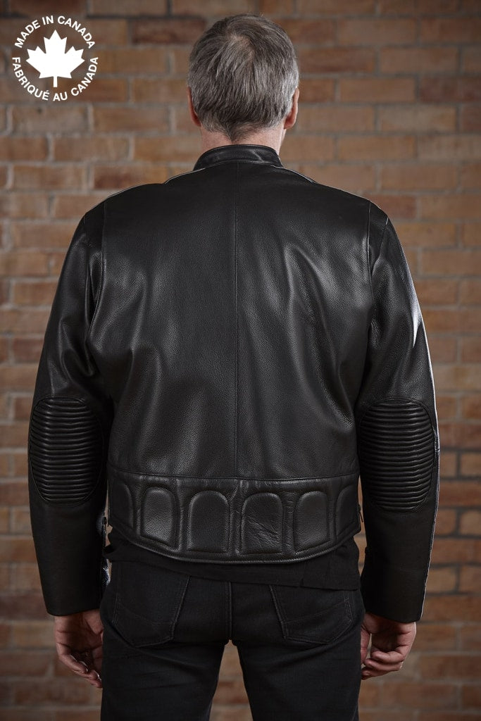 #3414 Mens Leather Motorcycle Jacket 38