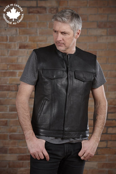 #3421 Mens Leather Vest 36 Vests