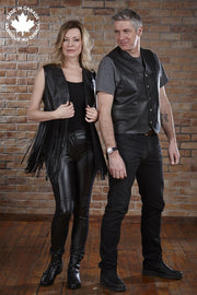 #6017 Ladies Leather Fringe Vest Vests