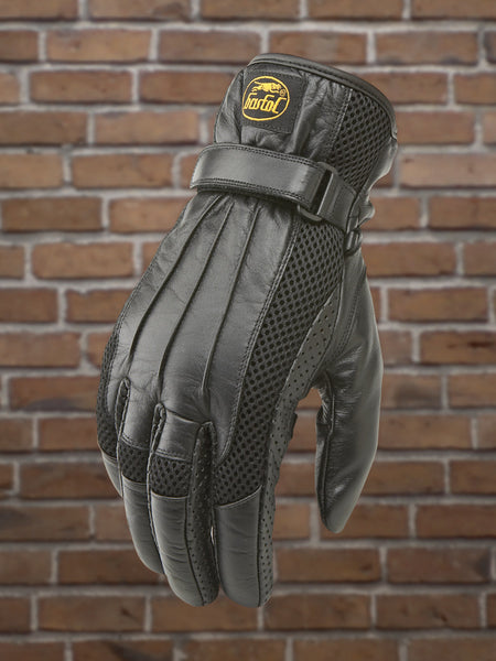 Men's Leather & Mesh Riding Glove