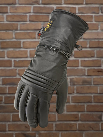 #480T Men's Cold Weather Leather Glove w/Rain Mitt