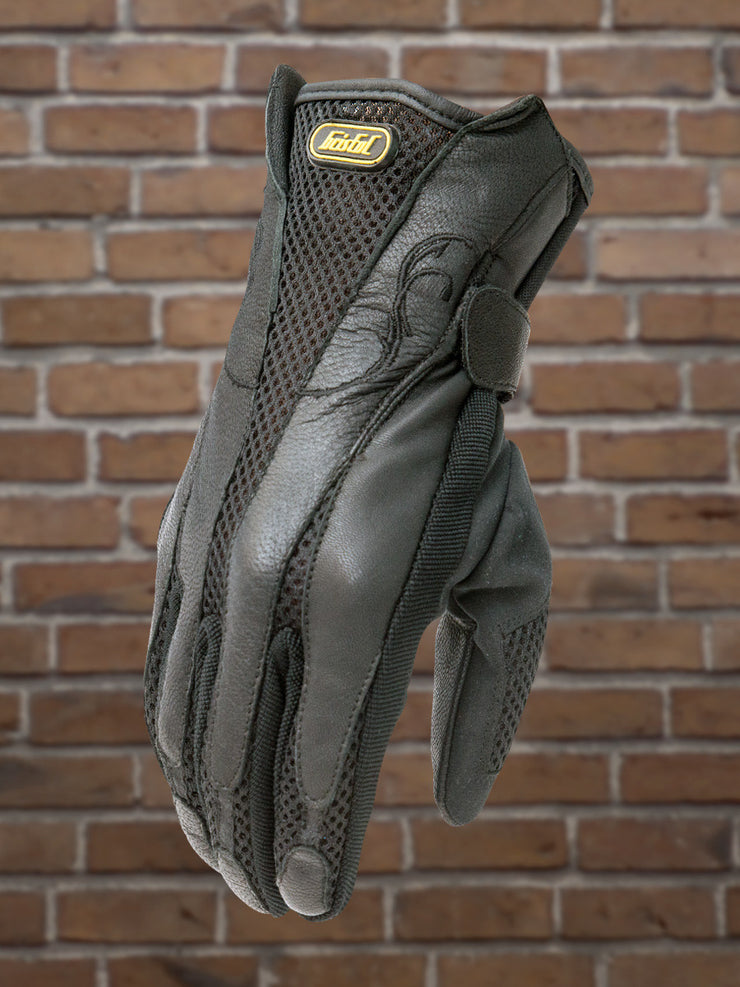#504 Ladies Vented Mesh & Leather Riding Glove