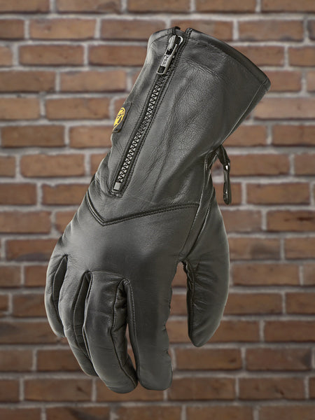 Ladies Zip Front Leather Riding Glove