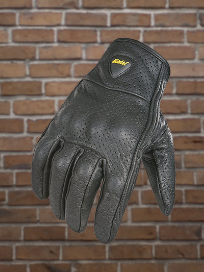 #335 Men's Leather Riding Glove w/Knuckle Protection