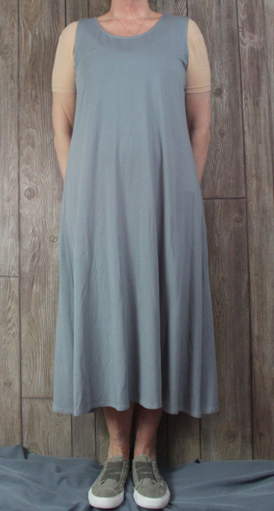 New Chalet XL size Tank Dress Gray Soft Womens Summer Vacation Easy Wear