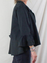 Pacificotton Jacket L size Black Swing Loose Fit Longer Back Swing Langenlook - Jamies Closet - 4