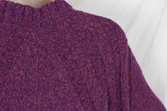 J Jill Sweater S size Purple Tie Waist Cardigan Short Sleeve Cotton Blend Womens - Jamies Closet - 7
