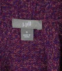 J Jill Sweater S size Purple Tie Waist Cardigan Short Sleeve Cotton Blend Womens - Jamies Closet - 8