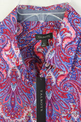 Talbots Blouse 6 S size New Multi Color Paisley Lightweight button front Womens - Jamies Closet - 5
