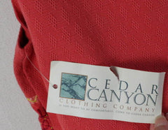 Cedar Canyon Vest L size New Orange Pink Embroidered Fun Loose Fit All Season - Jamies Closet - 7