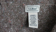 LL Bean Sweater M size Light Brown Flecked Womens Cable Cardigan Lightweight - Jamies Closet - 7
