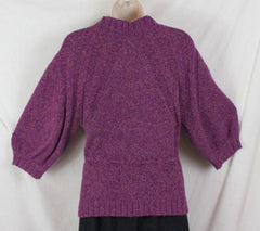 J Jill Sweater S size Purple Tie Waist Cardigan Short Sleeve Cotton Blend Womens - Jamies Closet - 6