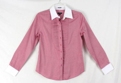 3a269254e74 Talbots Shirt 2 XS size Womens Red White Button Wrinkle Resistant Top Work  Play