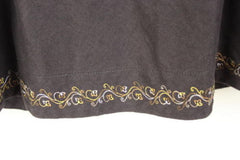 EMS Eastern Mountain Sports Skirt 6 S size Womens Brown Linen Blend Embroidered - Jamies Closet - 3