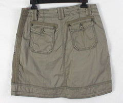 Aventura Skirt 6 S size Organic Cotton Khaki Brown Casual Easy Wear Outdoor - Jamies Closet - 4