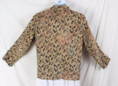 Tapestry Jacket L size Reversible Brown Blue Floral Lightweight All Season - Jamies Closet - 7