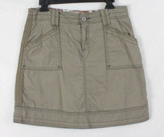 Aventura Skirt 6 S size Organic Cotton Khaki Brown Casual Easy Wear Outdoor - Jamies Closet - 2