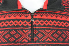Ralph Lauren Active Sweater L size Red Black Zip Neck Henley Womens LRL Top - Jamies Closet - 5