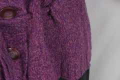 J Jill Sweater S size Purple Tie Waist Cardigan Short Sleeve Cotton Blend Womens - Jamies Closet - 4