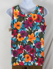 Physical Attraction Tank Top 2x size New Floral Cotton Colorful Summer Vacation - Jamies Closet - 4