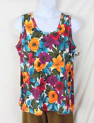 Physical Attraction Tank Top 2x size New Floral Cotton Colorful Summer Vacation - Jamies Closet - 2