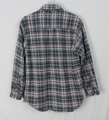 Great Outdoor Moose Creek M size Mens Heavy Cotton Shirt Black Gray Plaid