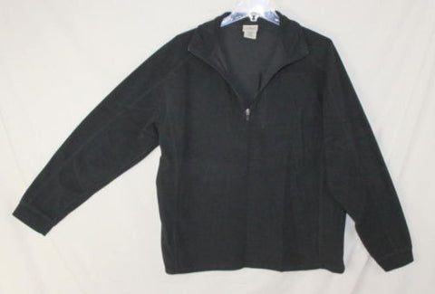 LL Bean L sz Fleece 1.4 zip Mens Black Sweater Lightweight Shirt Outdoor Jacket - Jamies Closet - 1