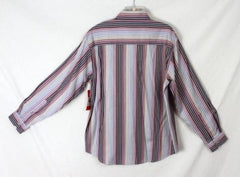 Mens Emanuel Ungaro Shirt size L New Soft Multi Color Stripe Long Sleeve Work - Jamies Closet - 5