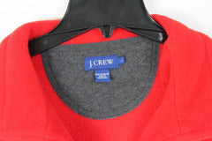 J Crew Fleece L size 1.4 zip Sweater Mens Red Soft Easy Wear Pull On Jacket - Jamies Closet - 3