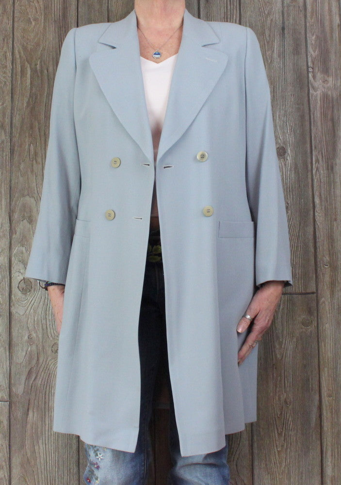 Nice Vintage Giorcio Armani Le Colleziioni Blazer 12 L size Light Blue Lined Womens