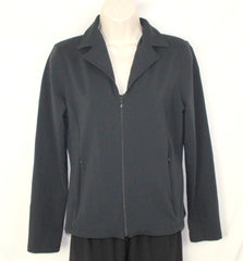 Athleta S size Jacket Black Zip Front Back Bow Stretch & Fitted - Jamies Closet - 1