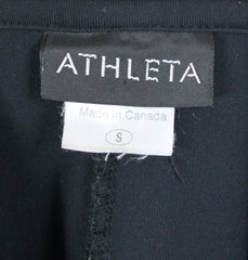 Athleta S size Jacket Black Zip Front Back Bow Stretch & Fitted - Jamies Closet - 7