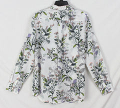 Pretty Banana Republic Dillon Blouse L size White Purple Green Floral