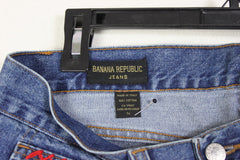 Cute Banana Republic Blue Jeans 14 35w High Rise Older Denim Patched Womens Inseam 32