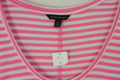 Cute New Banana Republic Tunic Tee Shirt XL size Pink White Soft Womens Top