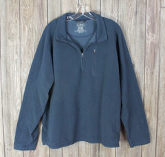 Nice LL Bean XXL size Fleece Jacket 1.4 Zip Blue Casual Lightweight